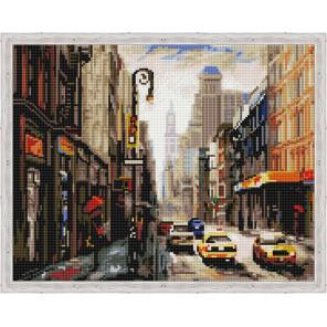 Деловой город Алмазная мозаика на подрамнике QA204023