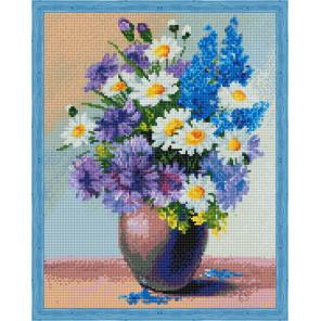 Полевой букет цветов Алмазная мозаика на подрамнике QA204016
