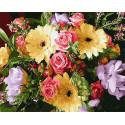 Герберы и розы Раскраска картина по номерам на холсте Z-GX31134