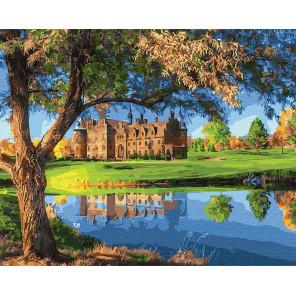 Замок у озера Раскраска картина по номерам на холсте Z-GX31633