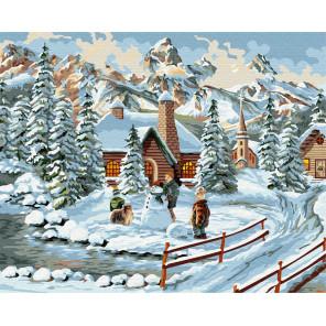 Зимний городок Раскраска картина по номерам на холсте Z-GX30921
