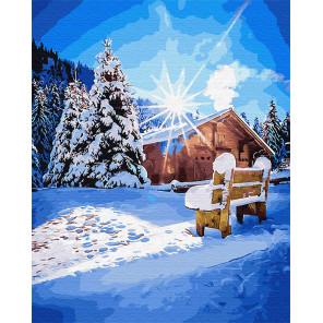 Морозное утро Раскраска картина по номерам на холсте Z-GX31645