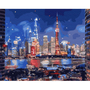Неоновый город Раскраска картина по номерам на холсте Z-GX31841