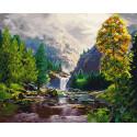 Осень в горах Раскраска картина по номерам на холсте Z-GX29439