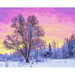 Пурпурное утро Раскраска картина по номерам на холсте Z-GX28728