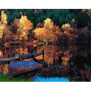Рыбацкий мостик Раскраска картина по номерам на холсте Z-GX29413