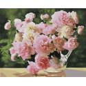 Садовые пионы Раскраска картина по номерам на холсте Z-GX28834