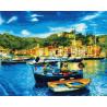 Средиземноморский причал Раскраска картина по номерам на холсте