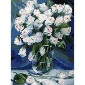 Букет белых роз Раскраска картина по номерам на холсте Z-EX5948