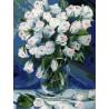 Букет белых роз Раскраска картина по номерам на холсте