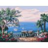 Вид на море Раскраска картина по номерам на холсте