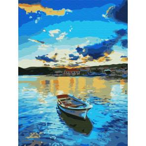 Голубой закат Раскраска картина по номерам на холсте Z-EX5984