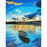 Голубой закат Раскраска картина по номерам на холсте