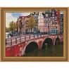 Канал Амстердама Картина 3D мозаика с нанесенной рамкой на подрамнике Molly