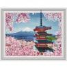 Японская пагода Картина 3D мозаика с нанесенной рамкой на подрамнике Molly