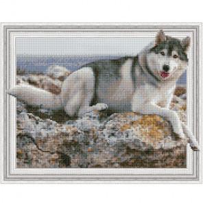 На берегу моря Картина 3D мозаика с нанесенной рамкой на подрамнике Molly KM0198