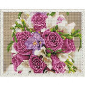 Розовый акцент Картина 3D мозаика с нанесенной рамкой на подрамнике Molly KM0202