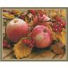 Спелые яблоки Картина мозаикой с нанесенной рамкой на подрамнике Molly
