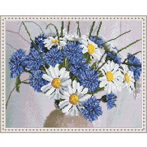 Июльский букет Картина мозаикой с нанесенной рамкой на подрамнике Molly KM0204