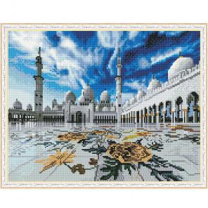 Мечеть шейха Зайда Картина мозаикой с нанесенной рамкой на подрамнике Molly KM0210