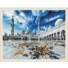 Мечеть шейха Зайда Картина мозаикой с нанесенной рамкой на подрамнике Molly