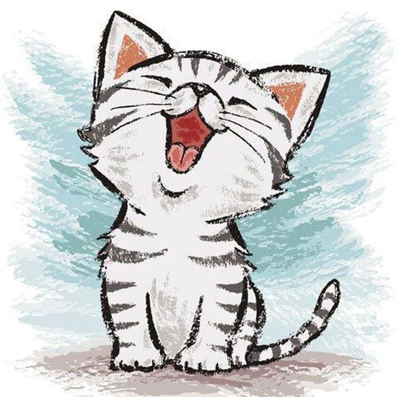 нарисовать прикольные картинки котенок смог отказаться