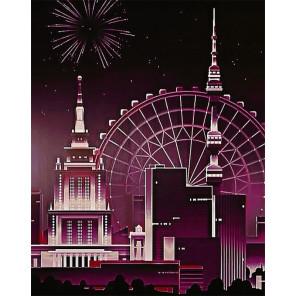 Ночная башня Алмазная вышивка мозаика Гранни AG2357