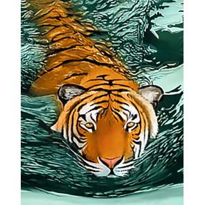 Тигровые воды Алмазная вышивка мозаика Гранни AG2413