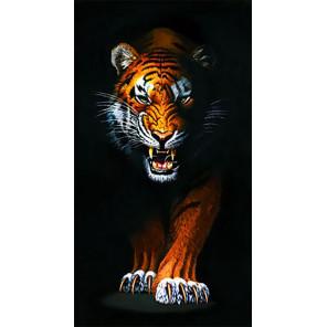 Преследующий тигр Алмазная вышивка мозаика Гранни AG2408