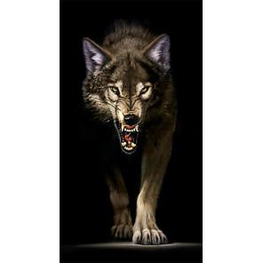 Преследующий волк Алмазная вышивка мозаика Гранни AG2410