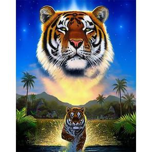Тигр озера Алмазная вышивка мозаика Гранни AG2411