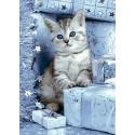 Котенок и подарки Алмазная вышивка мозаика Гранни AG2417