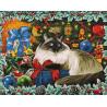 Раскладка - макет Рождественские Цвета Алмазная вышивка мозаика Гранни AG2422