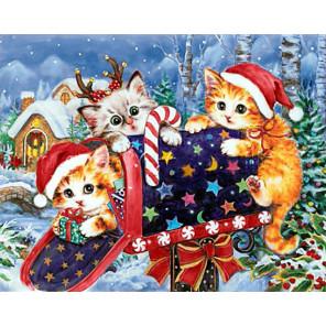 Рождественская почта Алмазная вышивка мозаика Гранни AG2423