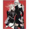 Anime girls 100х125 Раскраска картина по номерам на холсте