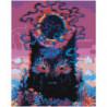 Пес с черными глазами 80х100 Раскраска картина по номерам на холсте