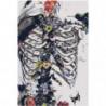 Скелет, бaбочки, цвeты 80х120 Раскраска картина по номерам на холсте