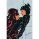 Бэтмен и женщина-кошка, влечение Раскраска картина по номерам на холсте