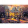Рождественские домики 80х120 Раскраска картина по номерам на холсте