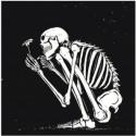Присевший скелет Раскраска картина по номерам на холсте