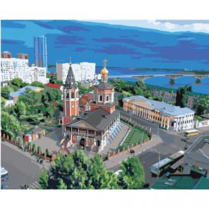 Троицкий Собор, Саратов 80х100 Раскраска картина по номерам на холсте