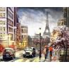 Улица в Париже Раскраска картина по номерам на холсте