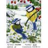 Зимние синички Раскраска картина по номерам на холсте