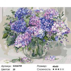 Яркий аромат сирени Раскраска картина по номерам на холсте GX26759