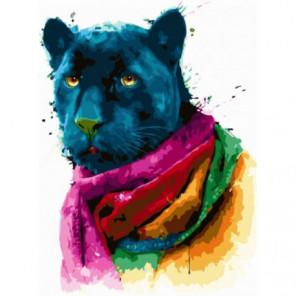 Мудрая пантера Раскраска картина по номерам на холсте