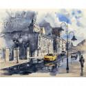 Улицы после дождя Раскраска картина по номерам на холсте