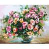 Пышный букет роз Раскраска картина по номерам на холсте