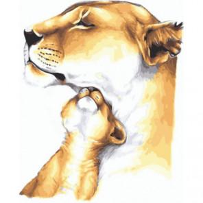 Под маминой защитой Раскраска картина по номерам на холсте