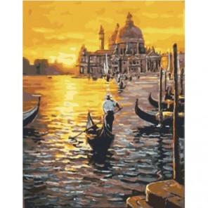 Венецианский закат Раскраска картина по номерам на холсте