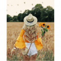 По пшеничному полю Раскраска картина по номерам на холсте